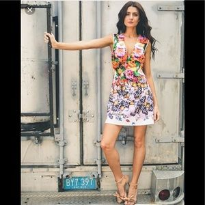 Clover Canyon Butterfly Petals floral mini dress